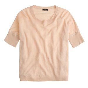 J. Crew Linen drop-shoulder swing sweater in gold